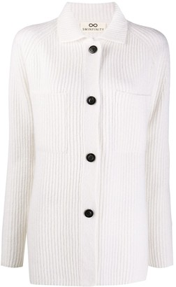 Sminfinity Ribbed-Knit Button-Up Cardigan
