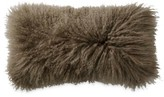 Donna Karan Exhale Flokati Fur Pillow