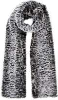 Grey Two Tone Faux Fur Scarf