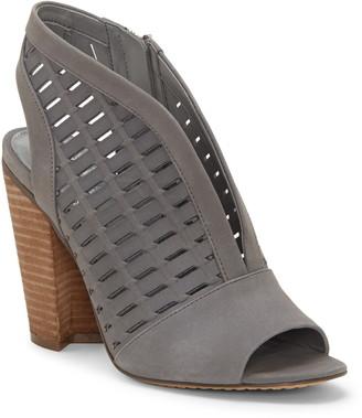 Vince Camuto Korsta Suede Perforated Block Heel Sandal