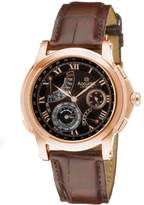 Accurist Grand Master's Repeater Men's Quartz Watch with Dial Analogue Display and Brown Leather Strap GMT326