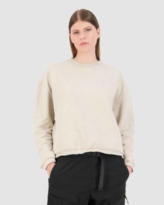 Huffer - Women's Crew Necks - Wr Capital Slouch Crew - Size One Size, 10 at The Iconic