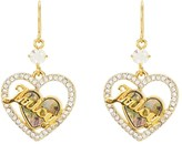 Juicy Couture Mother Of Pearl Heart Hoop Earrings