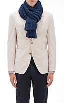 Barneys New York Men's Donegal Tweed Knit Scarf-BLUE