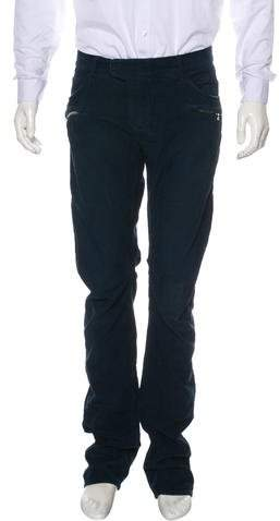 Balmain Corduroy Flat Front Pants