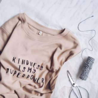 Organic Zoo - Clay Pink Organic Cotton Kindness Woman Sweatshirt - organic cotton | Clay Pink | M/L