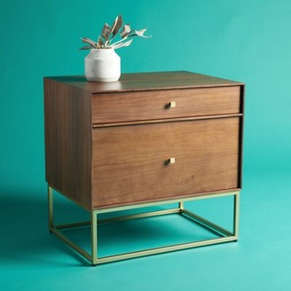 Safavieh Couture Furn 2 - Drawer Nightstand Color: Walnut