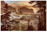 Loren Framed Art Pictures Islands at Eventide Art Poster Print by D. Adams Jr., 37x26