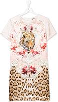 Roberto Cavalli teen tiger printed dress