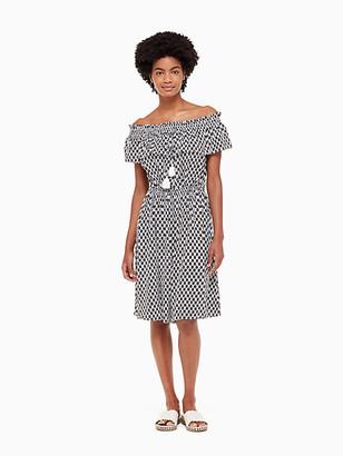 Kate Spade Broome Street Arrow Stripe Rayon Dress