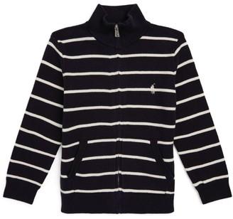Ralph Lauren Kids Stripe Zip-Up Sweater (5-7 Years)