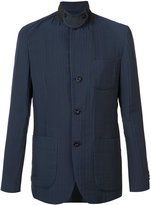 Sacai textured military jacket - men - Cotton/Polyester/Cupro - 2