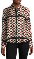 Marc Jacobs Women's Printed Colorblock Shirt