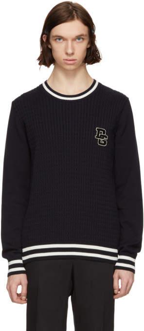 Dolce & Gabbana Navy Logo Sweater