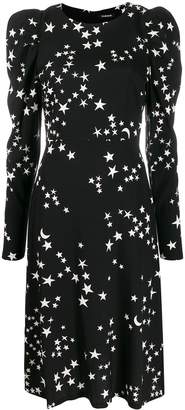 P.A.R.O.S.H. star print long-sleeve dress