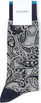Duchamp Paisley Cotton-blend Socks