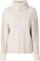 N.Peal Cable batwing jumper