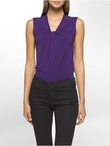 Calvin Klein Knot Neck Sleeveless Top