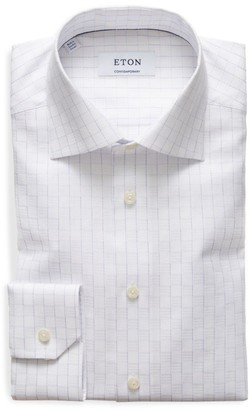 Eton Contemporary-Fit Textured Windowpane Dress Shirt
