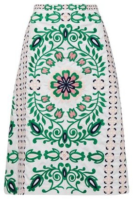 Tory Burch Embroidered Cotton Skirt