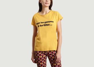 La Petite Francaise Theophile Slogan T Shirt - S/M