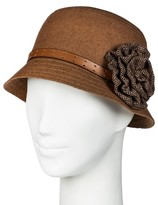 David & Young Women's Bucket Cloche Hat with Flower