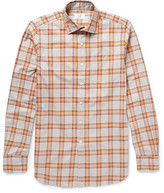 Dunhill - Slim-fit Checked Brushed-cotton Shirt