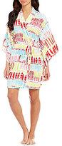 Josie Brushstroke Challis Kimono Robe