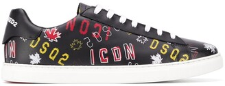 DSQUARED2 Logo Print Low-Top Sneakers