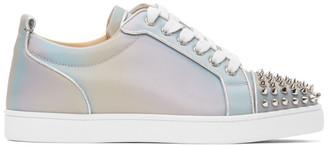 Christian Louboutin Grey Louis Junior Spikes Orlato Flat Sneakers