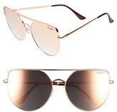 Quay Women's X Jasmine Sanders Santa Fe 65Mm Aviator Sunglasses - Gold/ Green