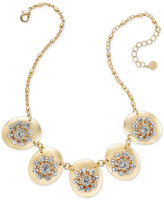 Charter Club Gold-Tone Crystal Statement Necklace, Only at Macy's
