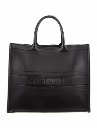 Christian Dior 2019 Leather Book Tote Black