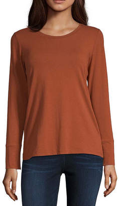 A.N.A Long Sleeve Round Neck Essential T-Shirt - Tall