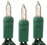HLS Clear - 15 Bulbs - Length 5 ft. - Bulb Spacing 4 in. - Green Wire - Christmas Mini Light String 4-15-CLR-G