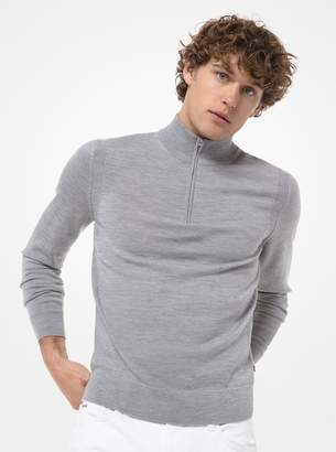 Michael Kors Merino Wool Quarter-Zip Sweater
