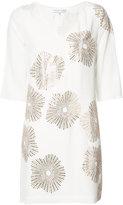 Trina Turk metallic print shift dress - women - Silk/Polyester - 10