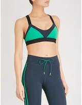 The Upside Colourblock stretch-jersey dance bra