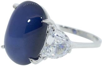 FANTASIA Half Moon Side Sapphire Ring