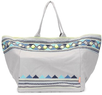 Sunuva Embellished Beach tote bag