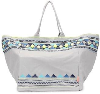 Sunuva Embellished Beach tote bag
