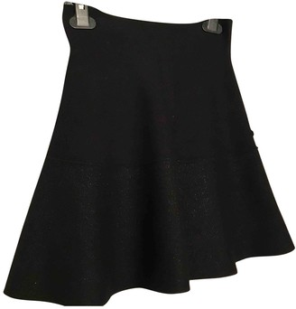 Eleven Paris Black Wool Skirt for Women