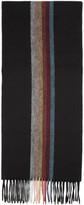 Paul Smith Black Artist Central Stripe Scarf