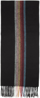 Paul Smith Black Artist Central Stripe Scarf