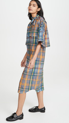 Toga Pulla Broad Check Dress