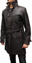 fjackets WD Men's Trench Leather Coat Jacket ►BEST SELLER◄ 3XL