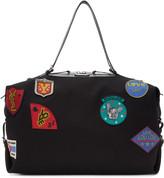 Saint Laurent Black Large Id Convertible Patches Bag