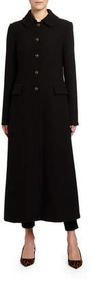 Dolce & Gabbana Ankle-Length Wool Crepe Coat