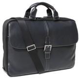 Boconi Men's 'Tyler' Tumbled Leather Portfolio Briefcase - Black