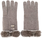 N.Peal fur trim gloves